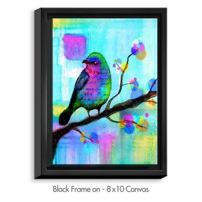 """DiaNocheDesigns 'Unchained' by Robin Mead Painting Print on Wrapped Framed Canvas Frame Color: Black, Size: 25.75"""" H x 19.75"""" W x 1.75"""" D"""