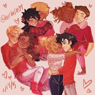 Jasper, Percabeth, Frazel, Solangelo and... wait, WHERE IS CALEO!?