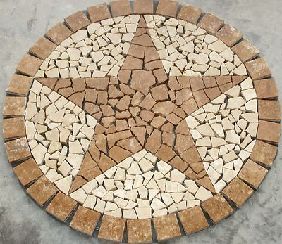 24 Quot Noce Texas Star Mosaic Marble Medallion Deco Stone