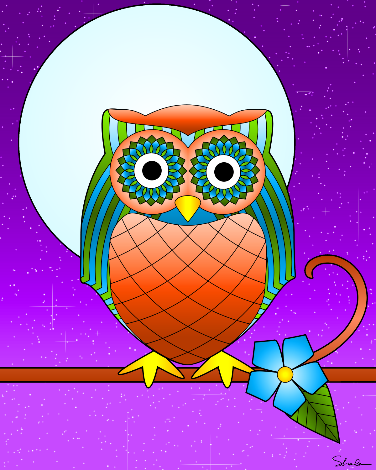 dont eat the paste owl coloring page