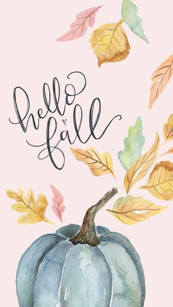 Hallo Herbst als Schriftzug #hellofall