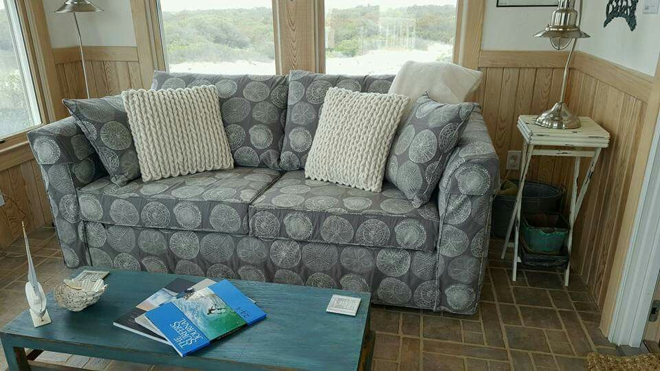 Beach House Sofa Slipcover 60 X 72 Sleeper Mattress A In Nancy S Custom