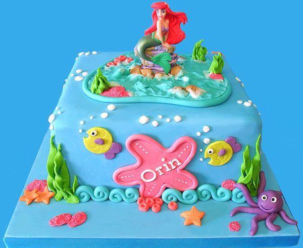 Cake De La Princesa Ariel Cuadrado