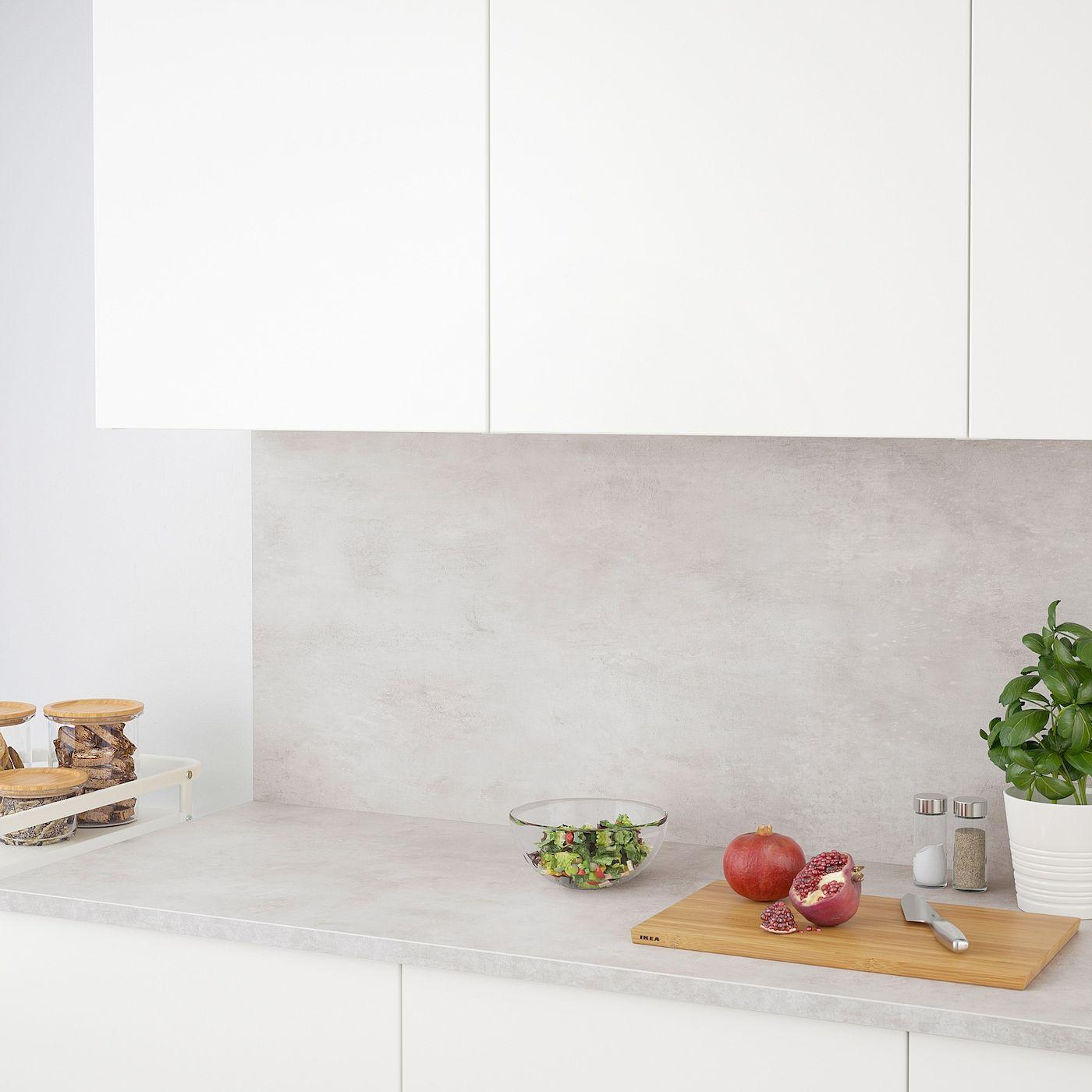 Ekbacken Countertop Light Gray Concrete Effect Laminate 74x1 1 8 188x2 8 Cm Countertops Laminate Countertops Laminate Worktop