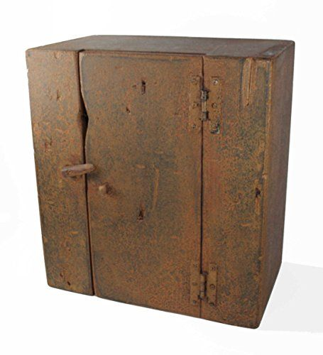 Aged Wood Medicine/Spice Cabinet Country Rustic Primitive