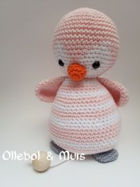 Muziekdoosje Roze Pinguin Haken Pinterest Häkeln