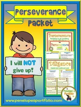 PERSEVERANCE Activities and Worksheets - Character ...