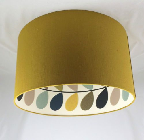 Lampshade handmade in uk linen with orla kiely seagreen multi lampshade handmade in uk linen with orla kiely seagreen multi stem aloadofball Choice Image