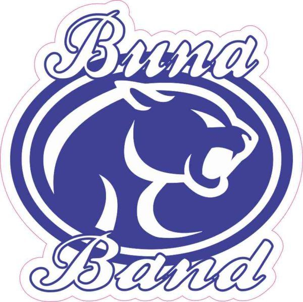 X buna band sticker vinyl school music bumper stickers cup decal white