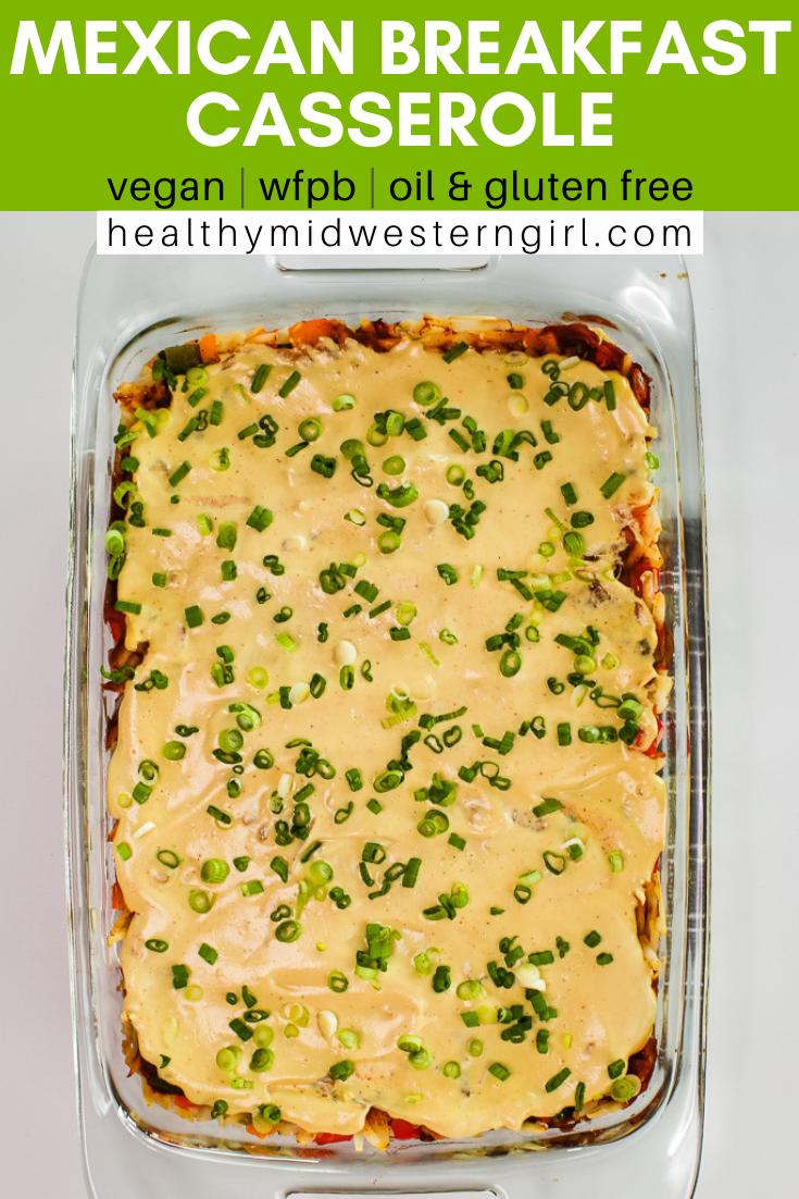 Vegan Mexican Breakfast Casserole Recipe In 2020 Vegan Breakfast Casserole Vegan Breakfast Recipes Breakfast Casserole