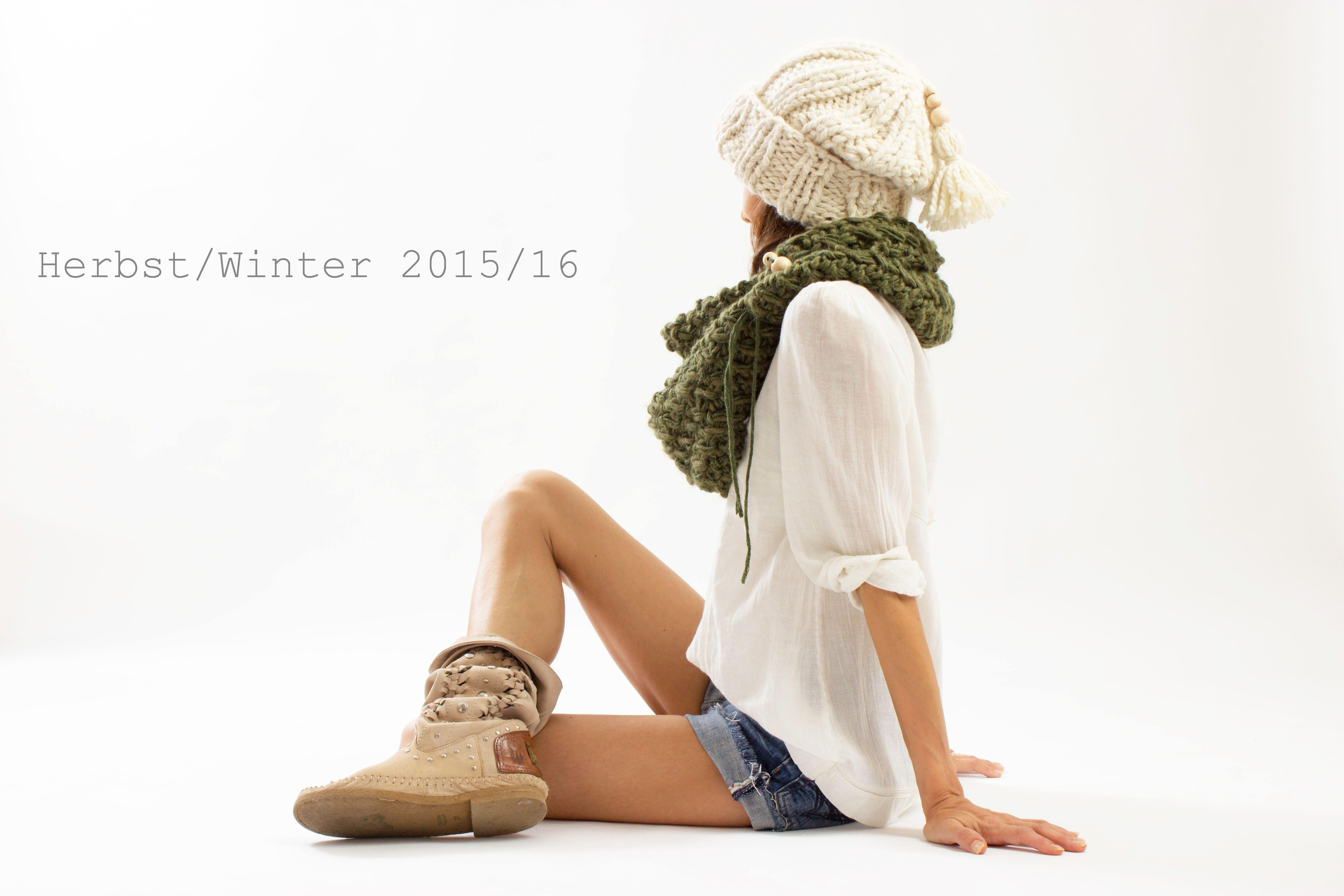Alpaka/Cashmere-Cap Chunky Knit by amjas.net
