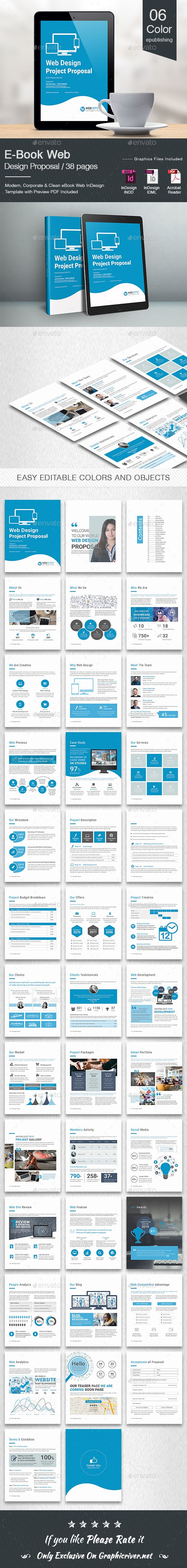 E-Book Web Design Proposal Template InDesign INDD • 38 Pages Design