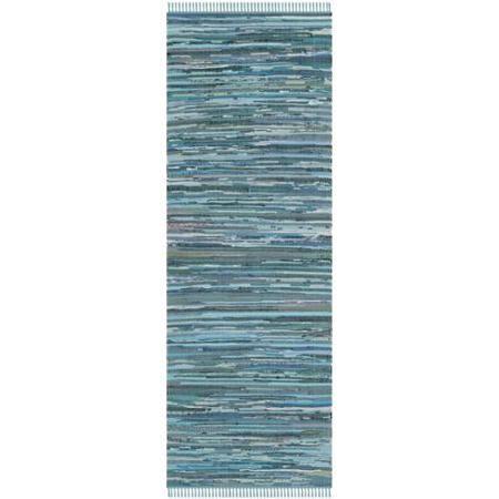 Safavieh Hand-woven Rag Rug Blue Cotton Rug (2'3 x 7')