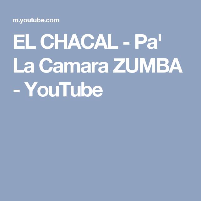 EL CHACAL - Pa' La Camara ZUMBA - YouTube