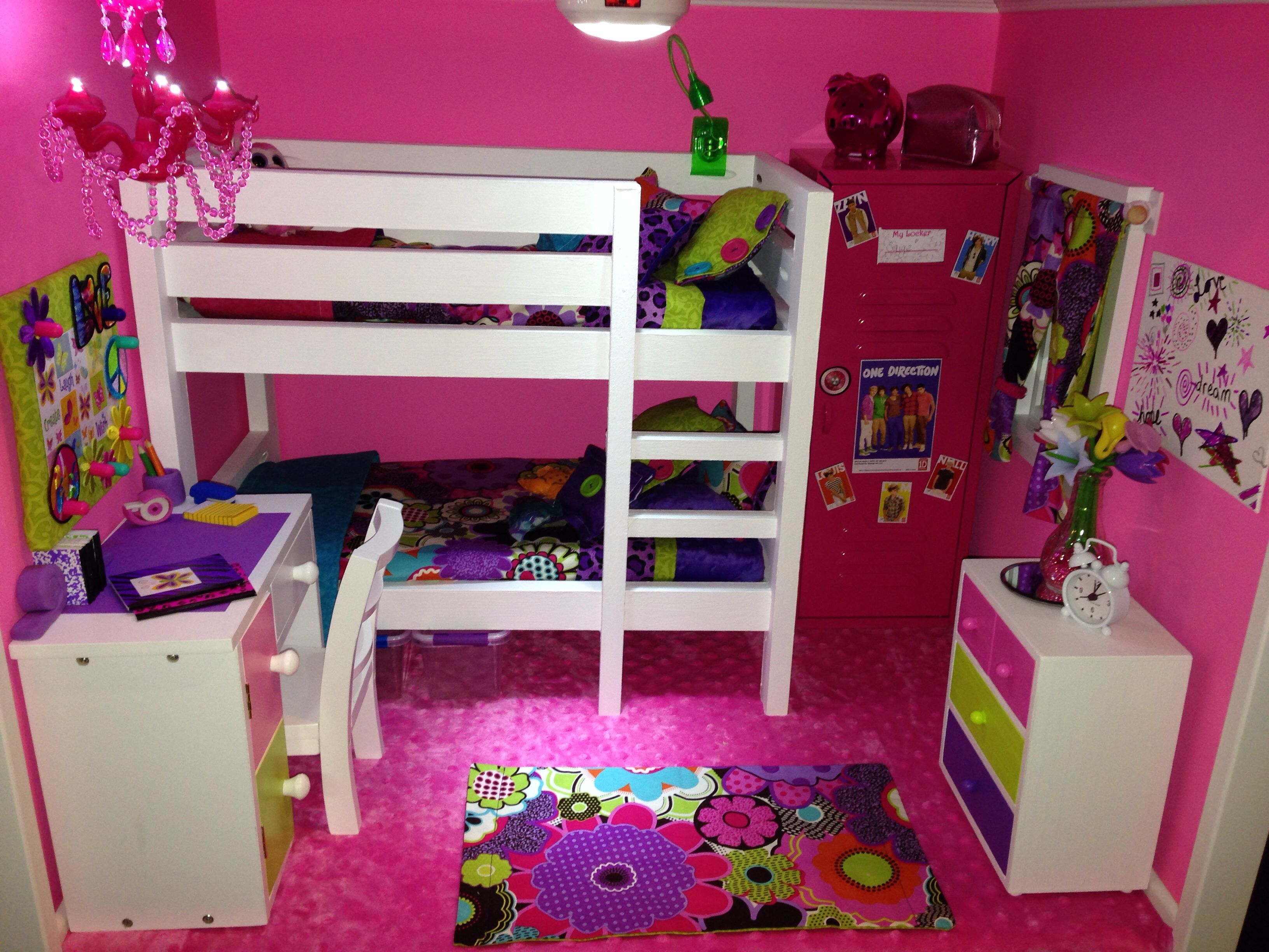 Best American Girl Doll House The Pink Bedroom We Made The 640 x 480