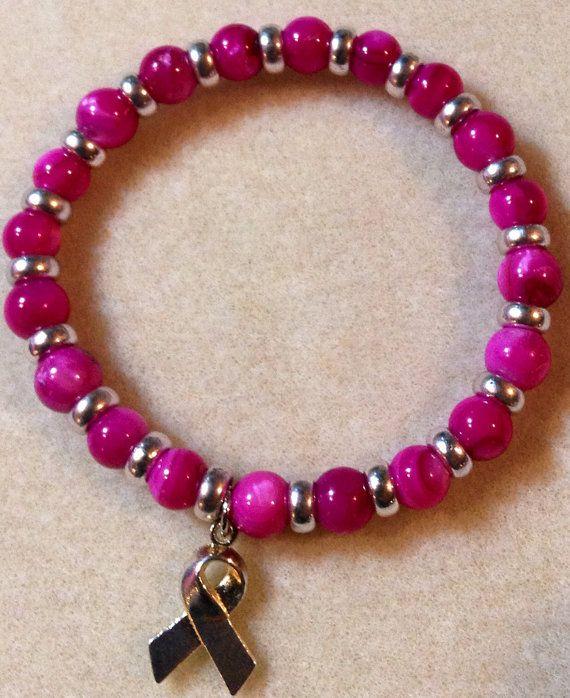 Beading Ideas T Cancer Awareness Elastic Bracelet
