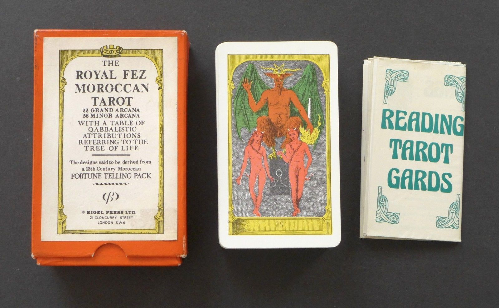 Vintage Morrocan Royal Fez Tarot Cards Deck Rider Waite Clone 1975 Rigel Press | eBay