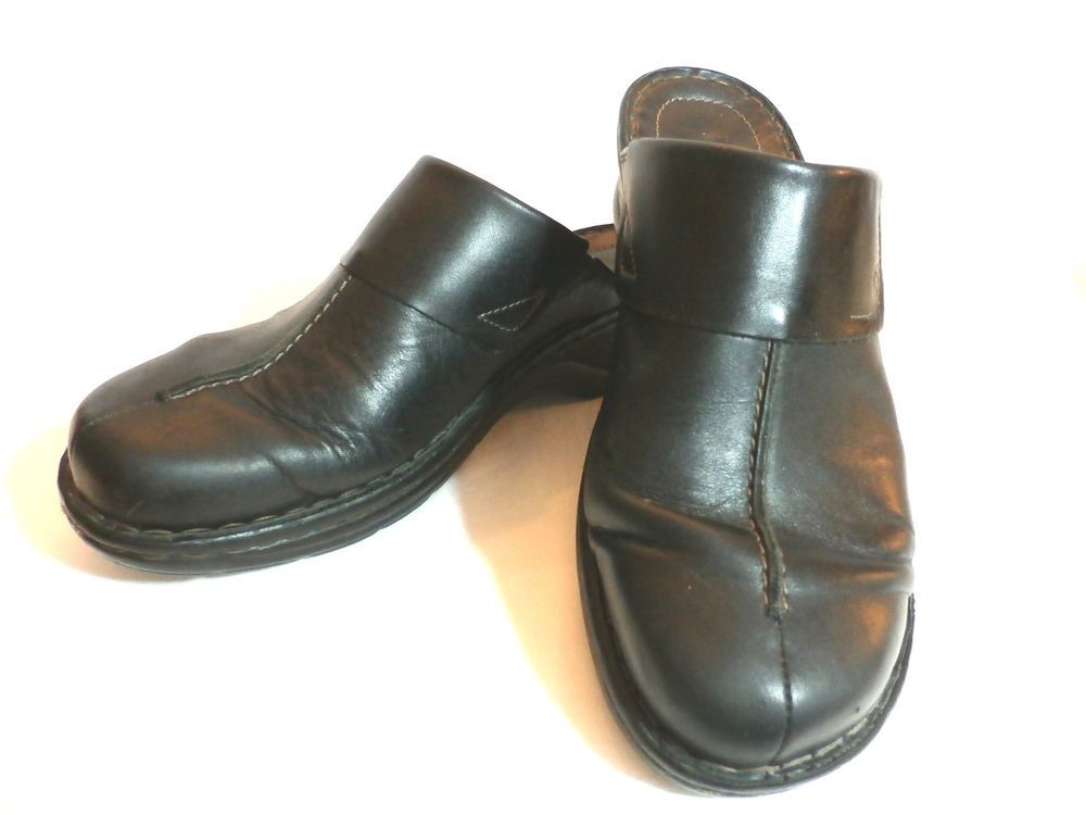 950b466fb86e1 JOSEF SEIBEL Women's BLACK CLOGS Slip-On 39 EUROPEAN COMFORT SHOE ...