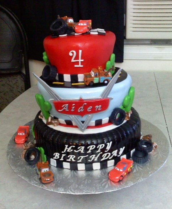 Cars birthday Cake food cake ideas Pinterest Birthday cakes