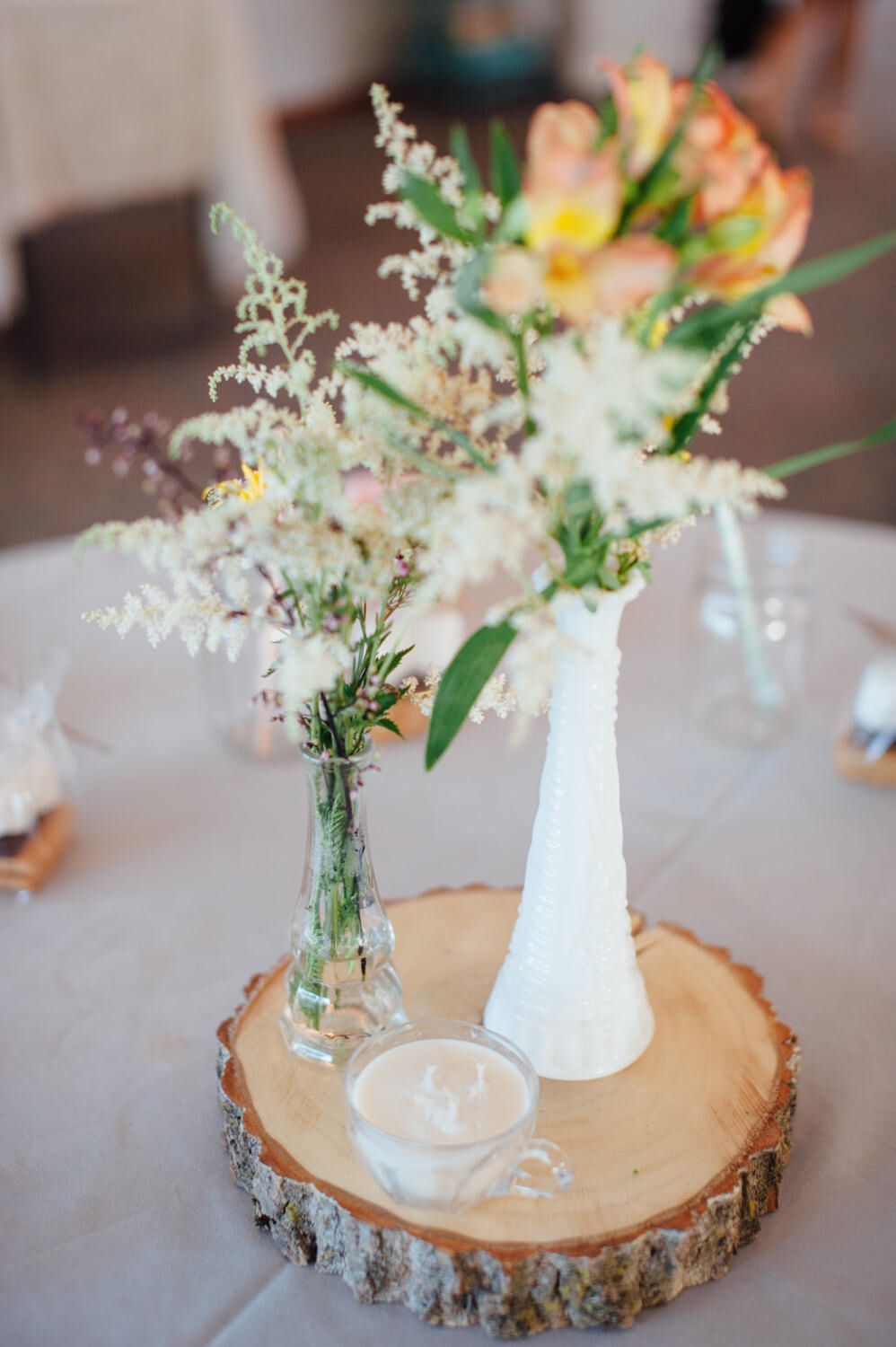 Wood Rounds Table Centerpiece Dessert Stand Tree Slice Rustic Wedding Wood Centerpieces Wedding Wood Centerpieces Rustic Wedding Centerpieces