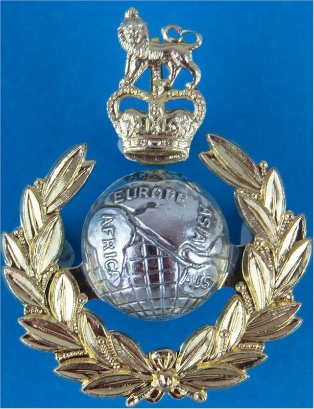 Royal Marines Commando Officers Anodised Cap Badge