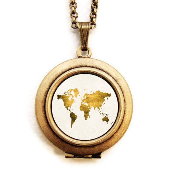 World map locket let love light the way gold world map photo world map locket let love light the way gold world map photo locket necklace gumiabroncs Image collections