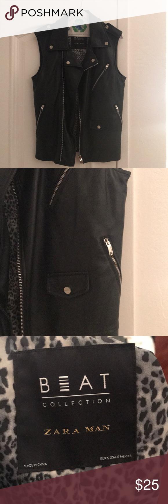 Zara flannel shirt mens  Zara menus faux leather vest  Biker vest Flaws and Bikers