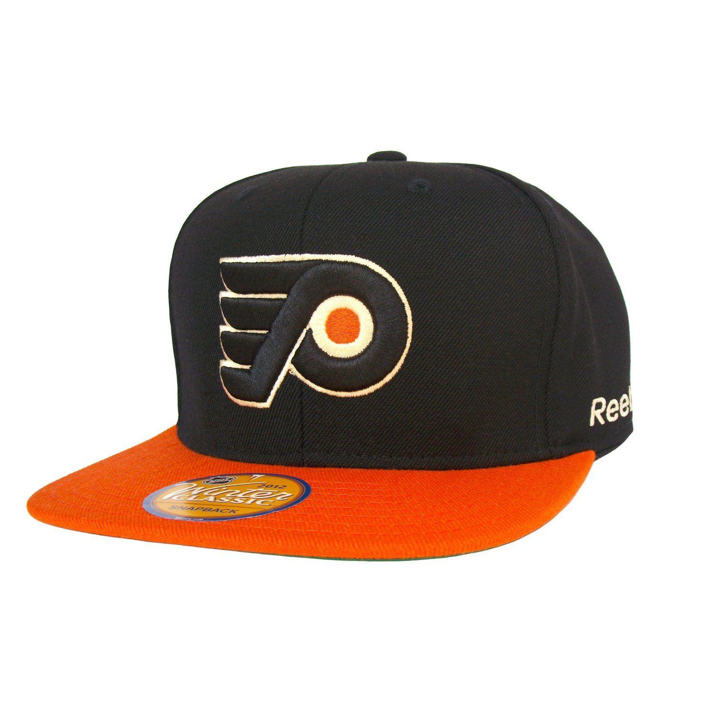 f4f4a32c660e1 PHILADELPHIA FLYERS 3D Logo Snapback Hat - 2012 NHL Winter Classic  Collection - Black Orange  Amazon.co.uk  Sports   Outdoors