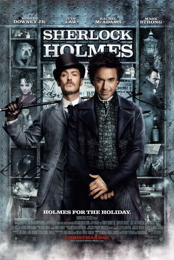 Sherlock Holmes 27x40 Movie Poster 2009 Cartazes De Filmes