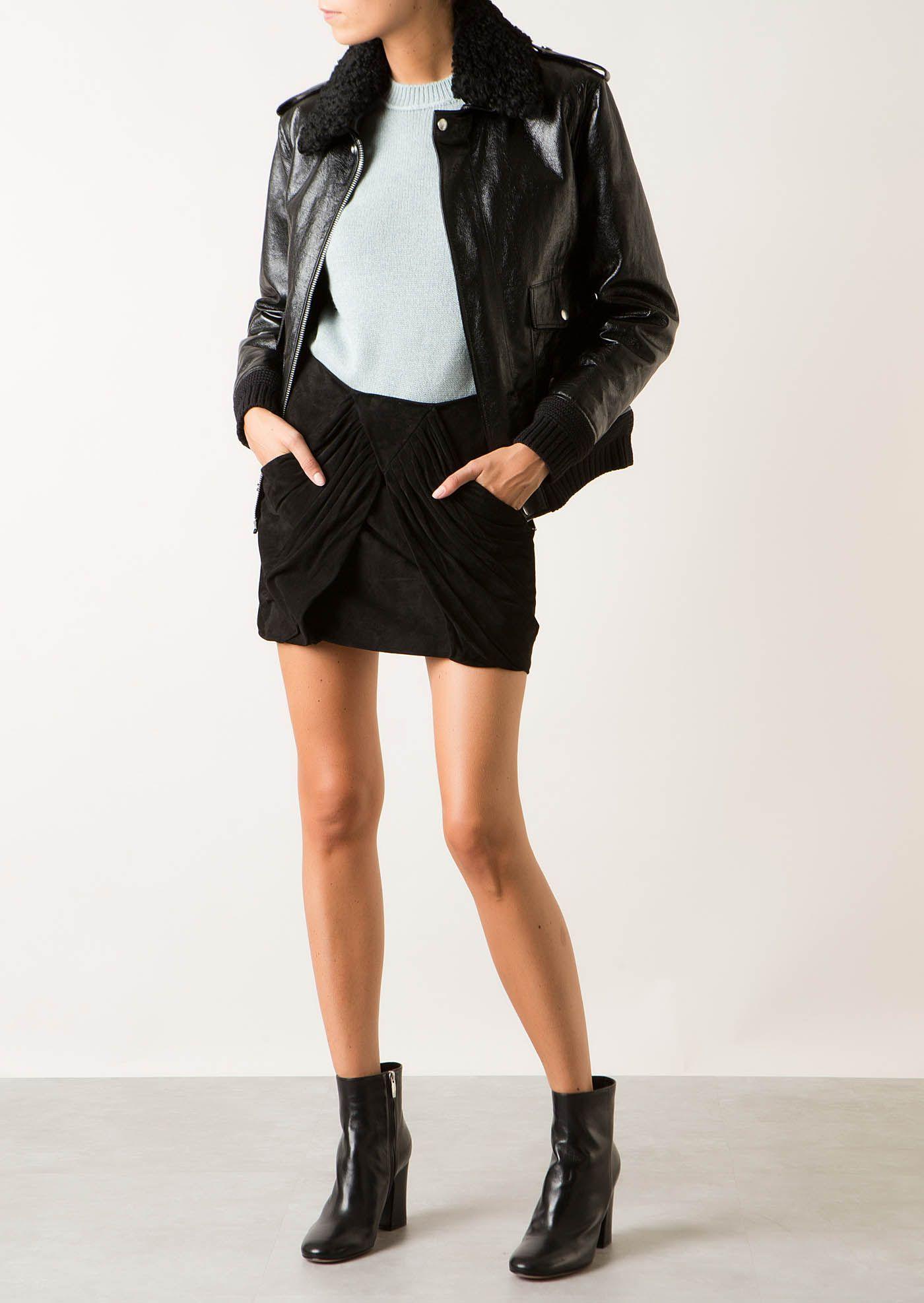 Saint Laurent Saint Laurent Black Cracked Shiny Leather Jacket Saintlaurent Cloth Leather Jacket Clothes Saint Laurent [ 1974 x 1400 Pixel ]