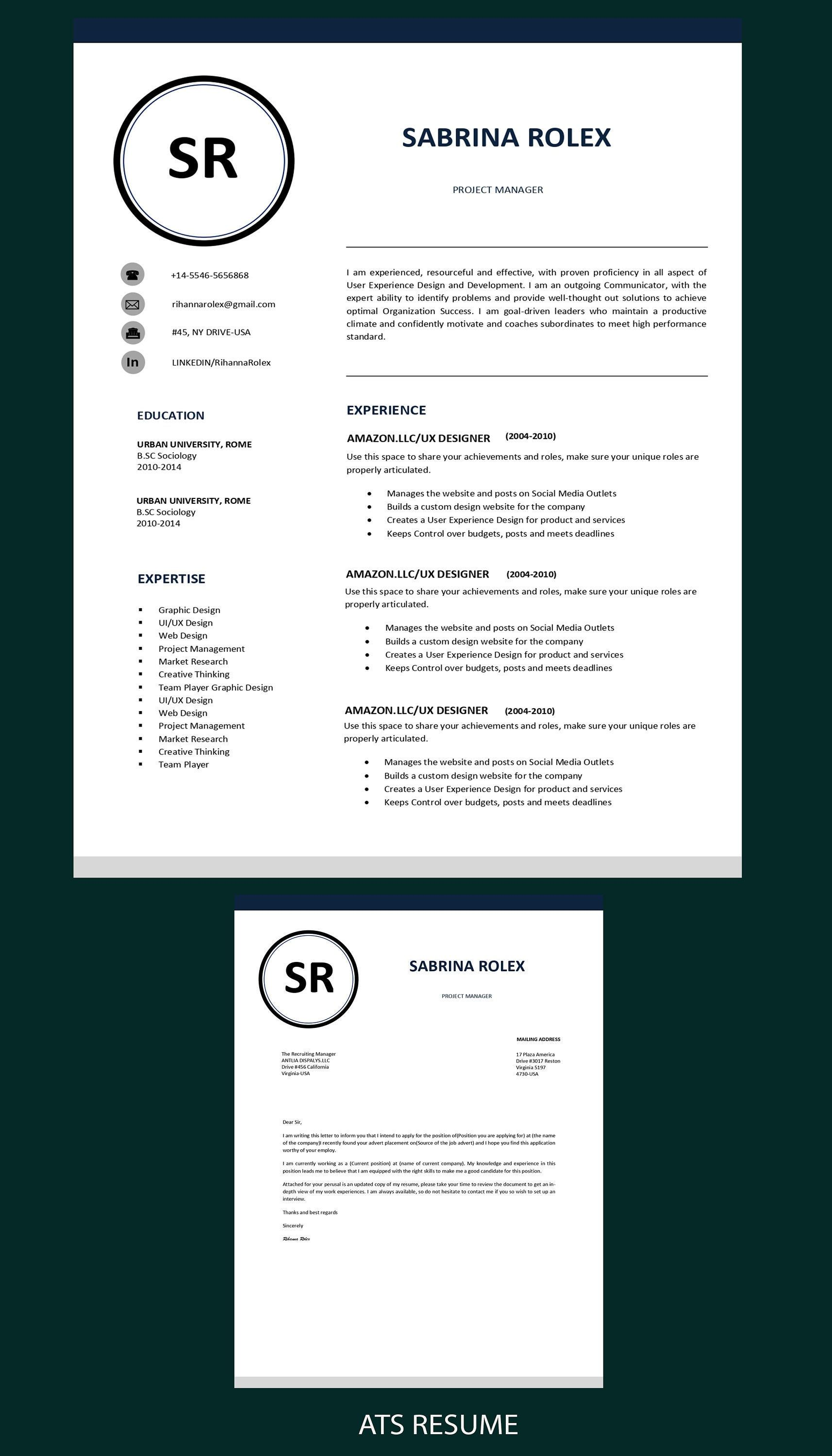 1 Page Resume Professional Cv Template Resume Template Ms Etsy In 2021 Cv Template Professional Cv Template Resume Template