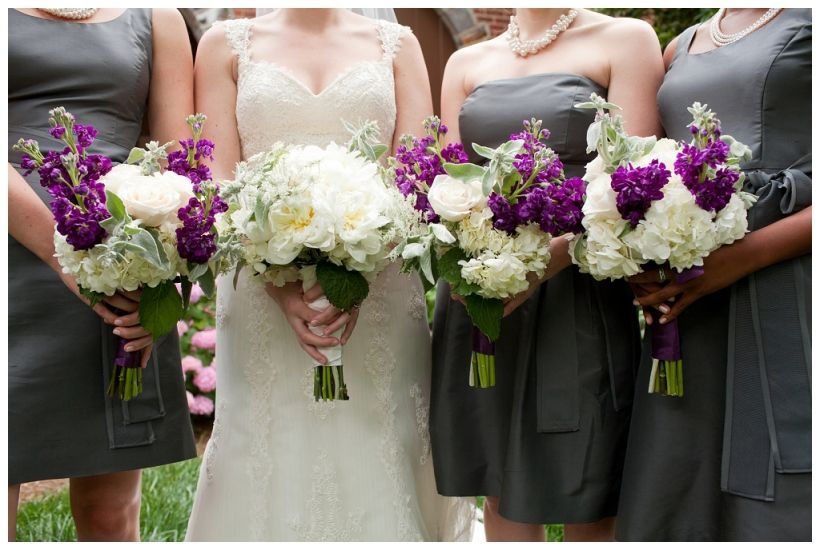 Clutches of white, purple and dusty blue-green. Photographed by Jenny Tenney.