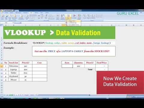 VLOOKUP in Excel How to use Vlookup Function and Data Validation