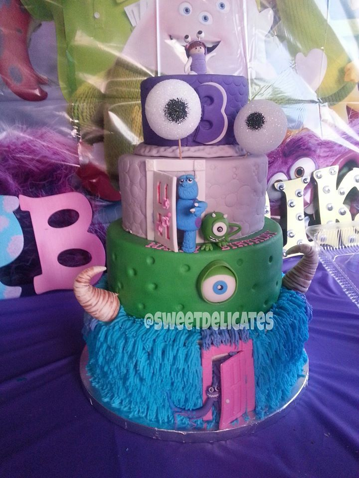 Monsters inc theme cake by sweet delicates in clovis