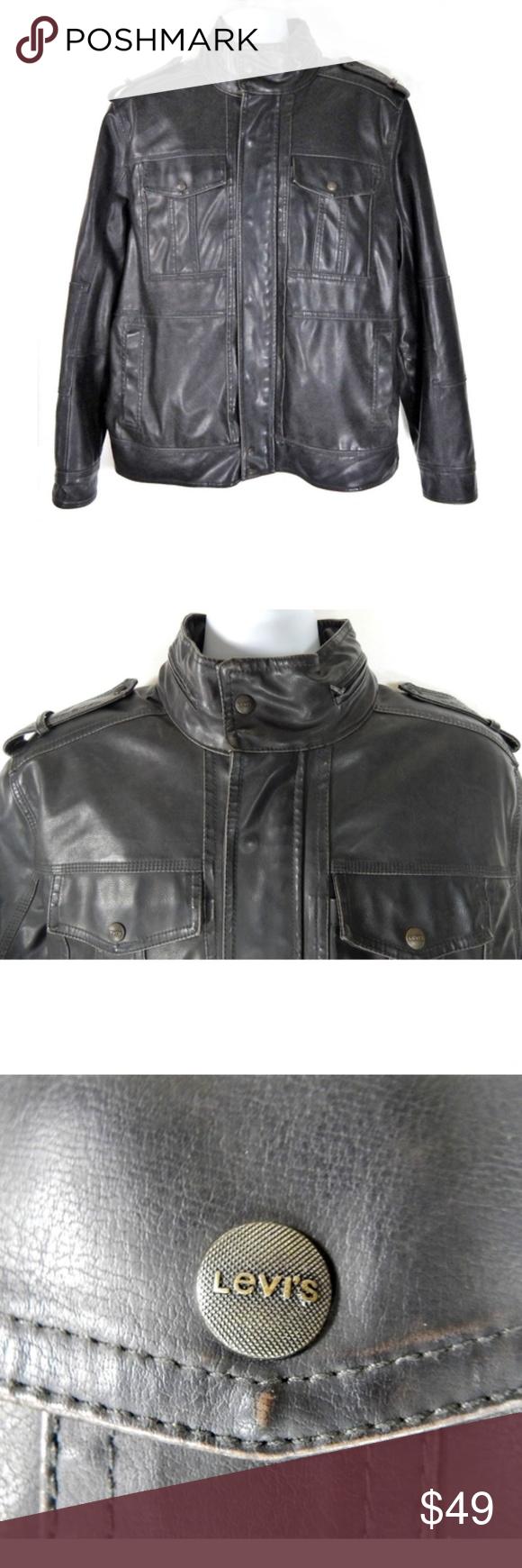 Levi's Men Vegan Faux Leather Motorcycle Jacket Levi's Men