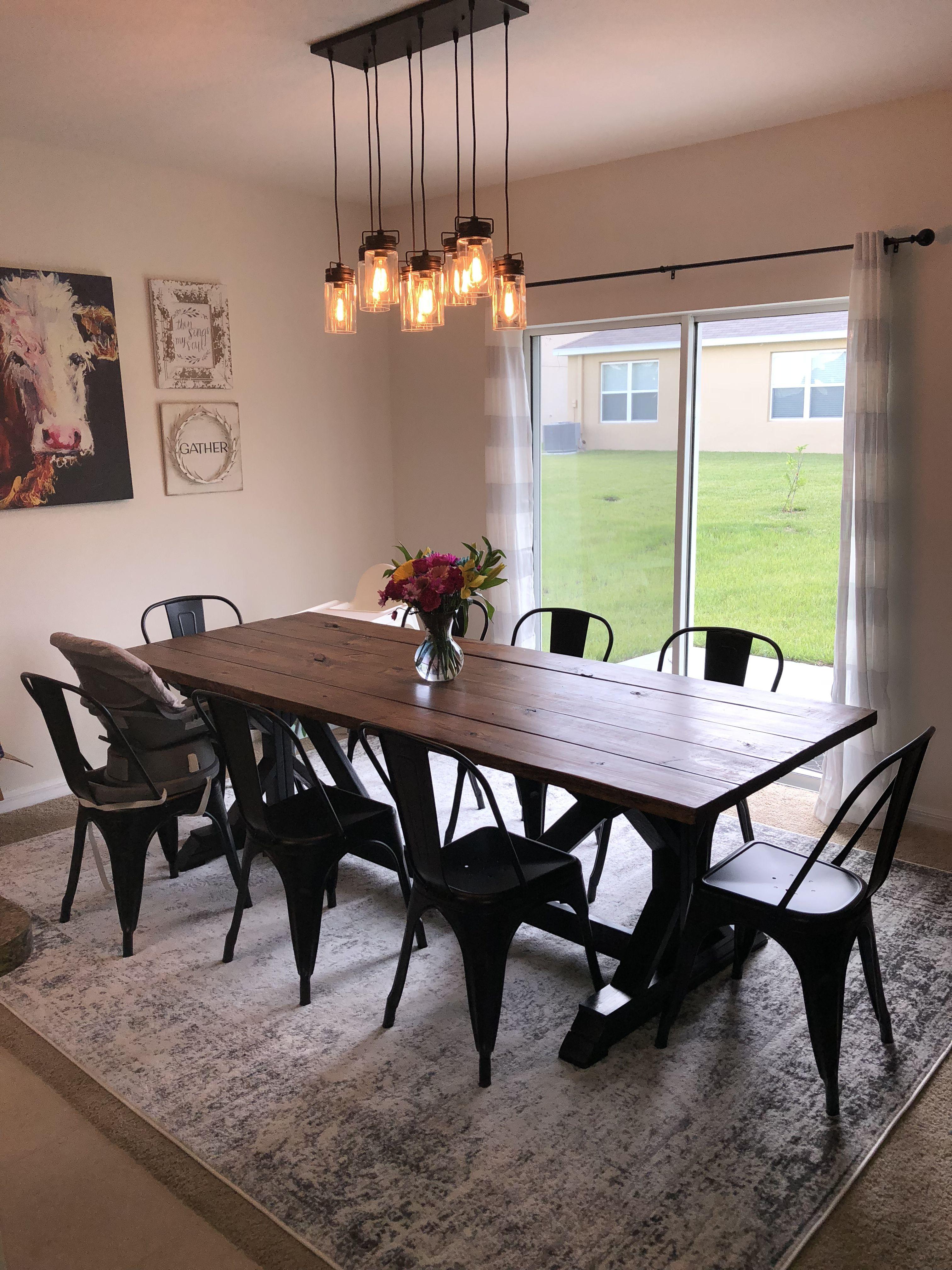 Industrial Farmhouse Dining Room Love In 2020 Farmhouse Dining