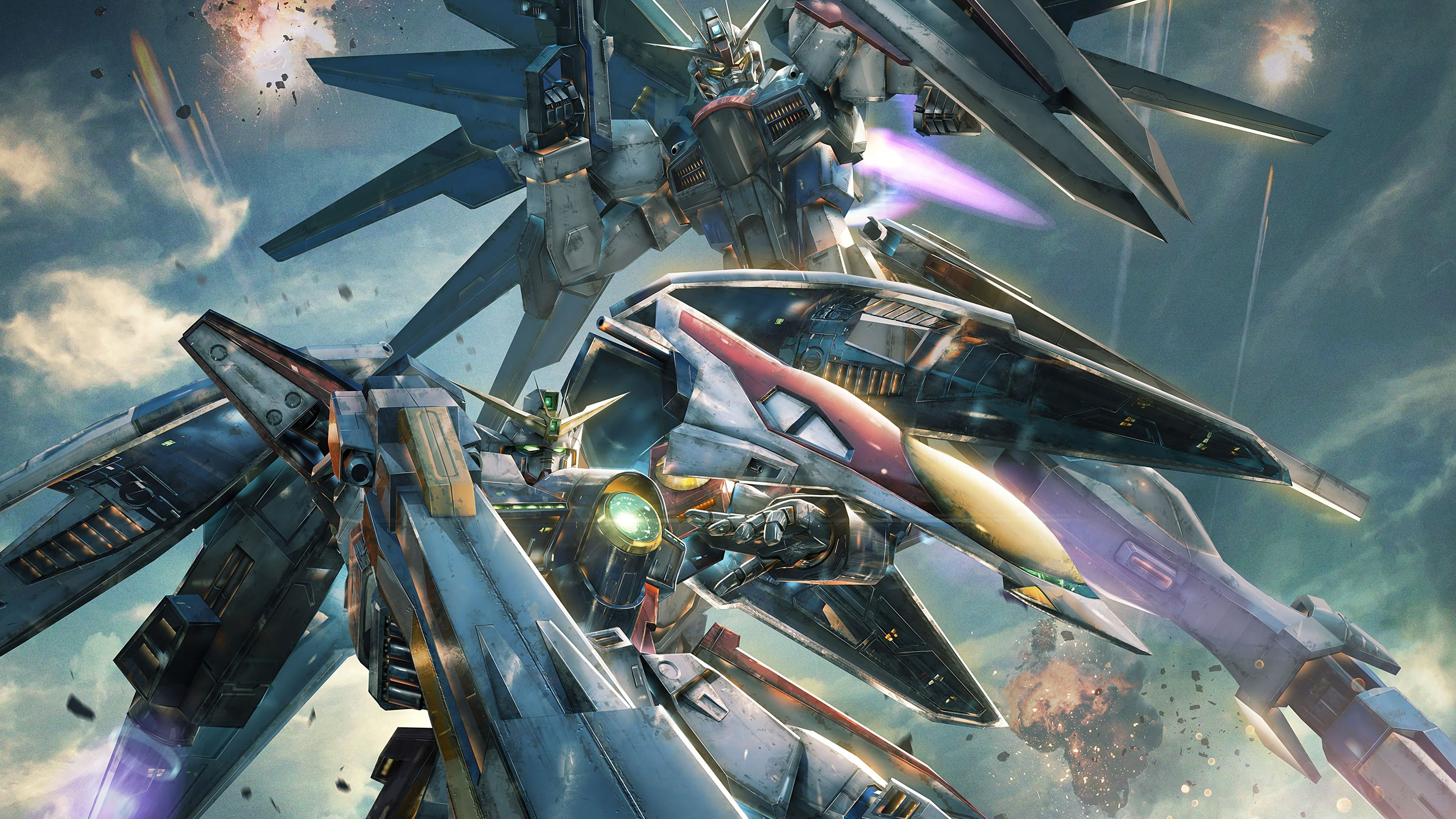 Cool Gundam Versus 4K PlayStation 4 (PS4) Game 3840x2160