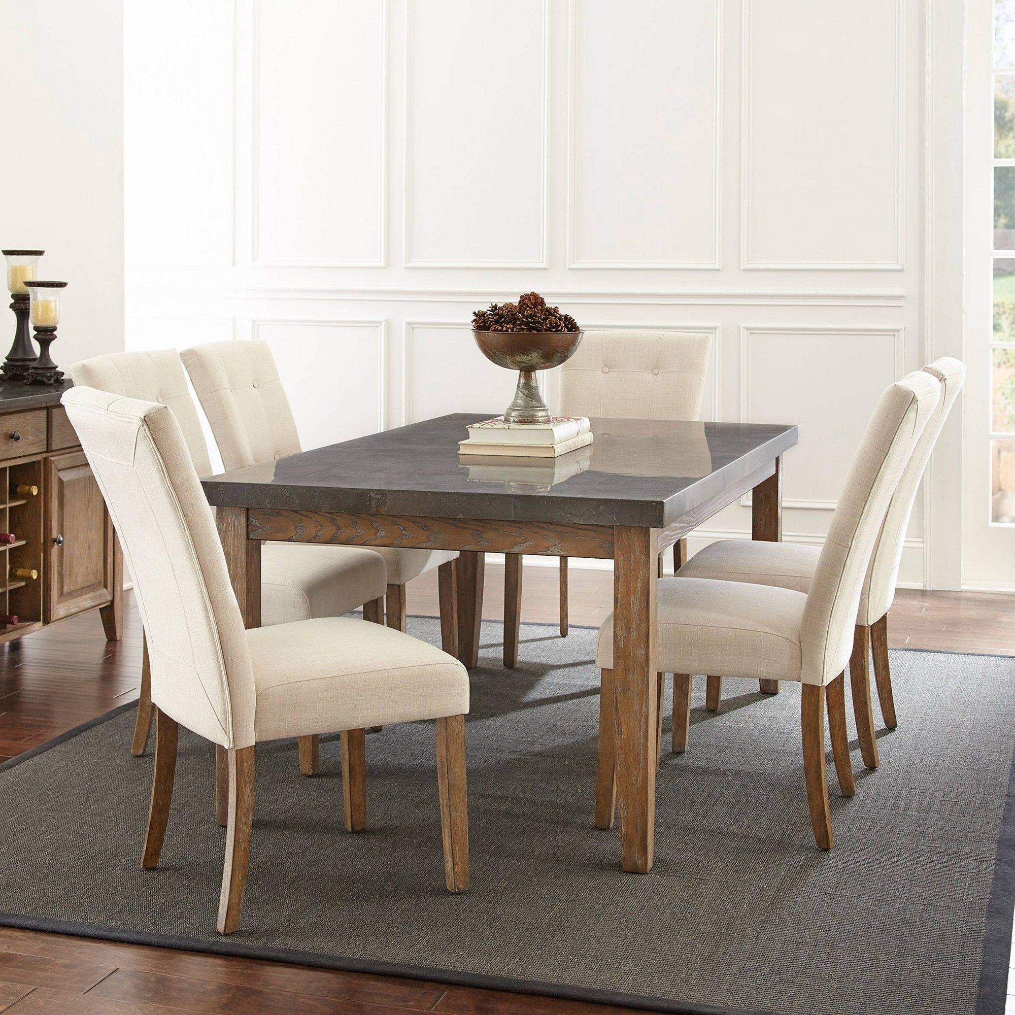 7pc Debby Dining Set Beige - Steve Silver | Products in 2019 ...