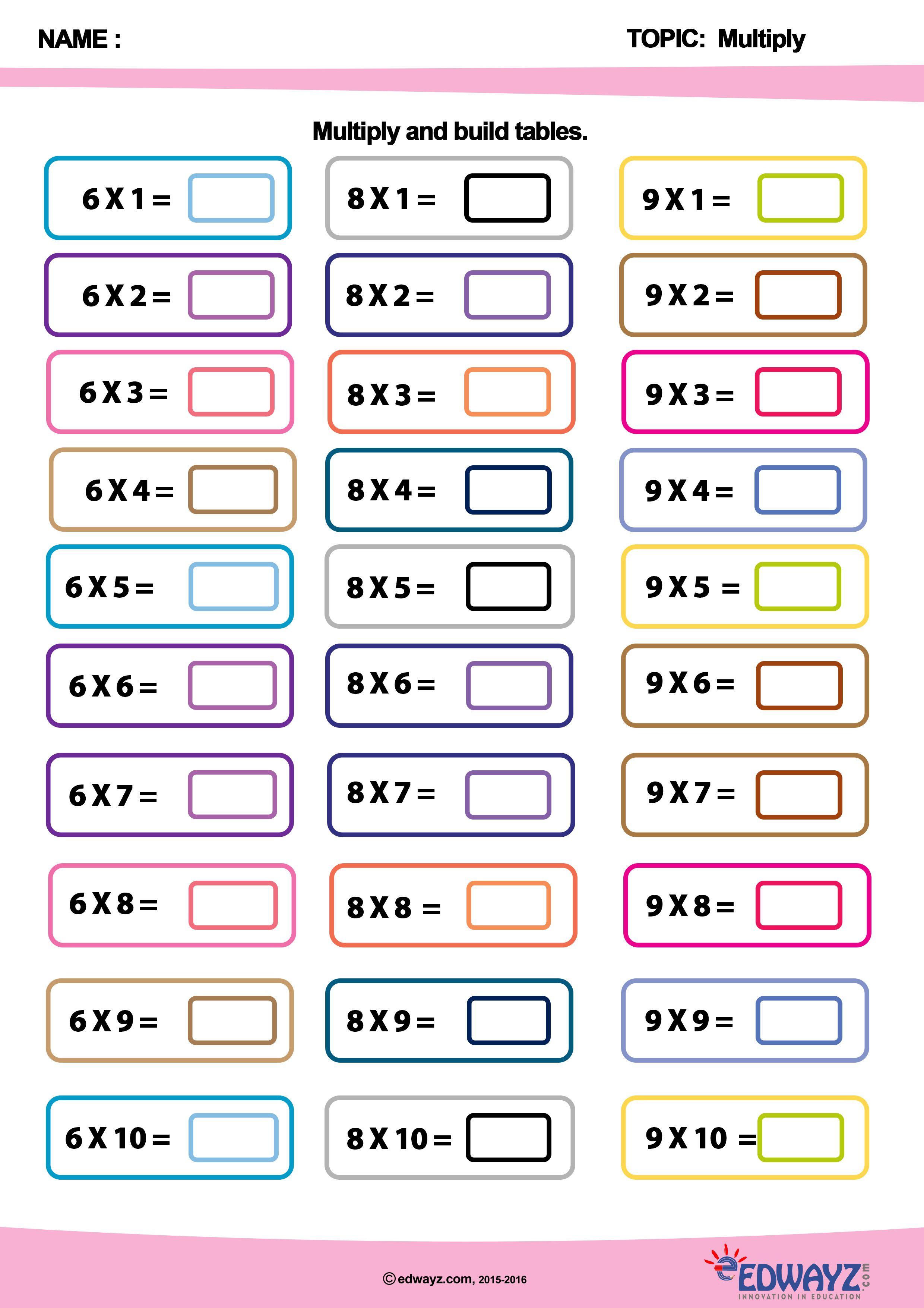 Worksheets Funlearning Math Class2 Multiplication Edwayz Edufun Edumath Fun Learning Math Worksheets