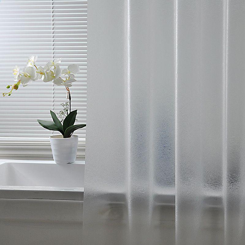 Nordic Plastik Tahan Air Bebas Pukulan Shower Curtain Tembus