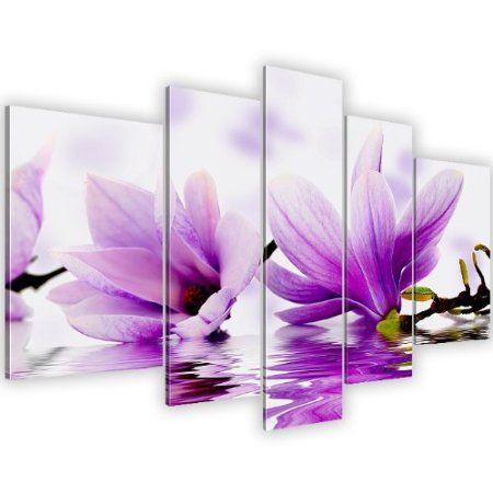Bilder & Kunstdrucke Prestigeart, Magnolia, Bild auf Leinwand, 170 x 100 cm, 5 Teile