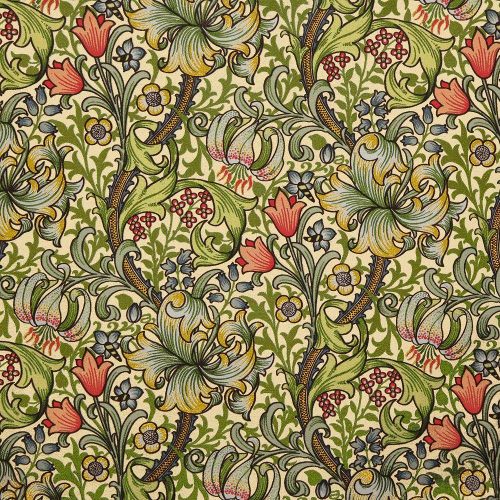 Based on John Henry Dearle's Golden Lily wallpaper design