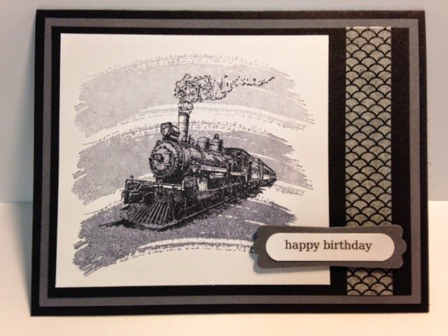 Rubber Stamp Card Making Ideas Part - 21: Travel, Work Of Art, Masculine Birthday Card, Stampinu0027 Up!, Rubber