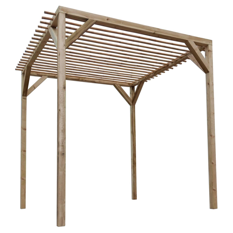 Wooden Pergola With Bamboo Joists Pergola Bauen Pergola Und