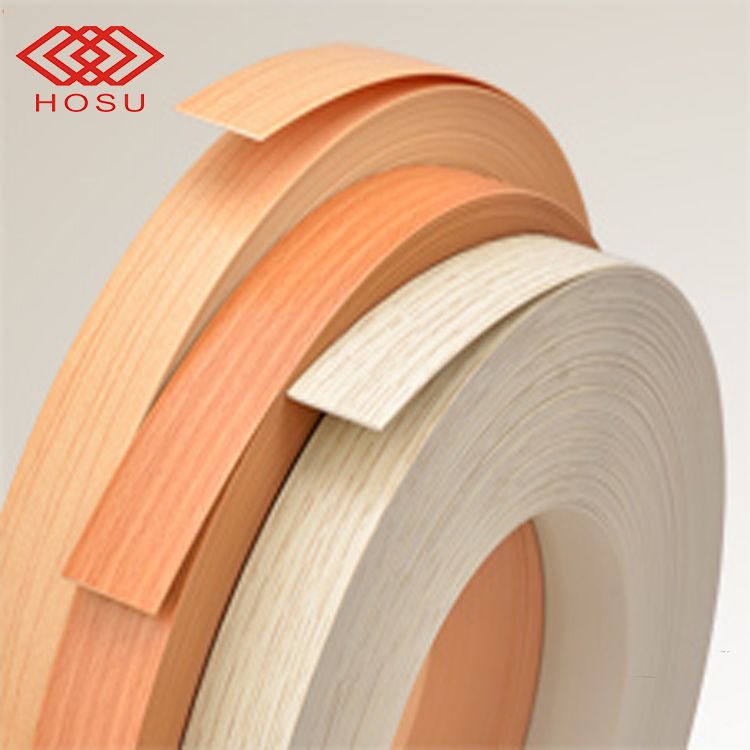 wholesale PVC edge banding tape plastic wood grain edge banding