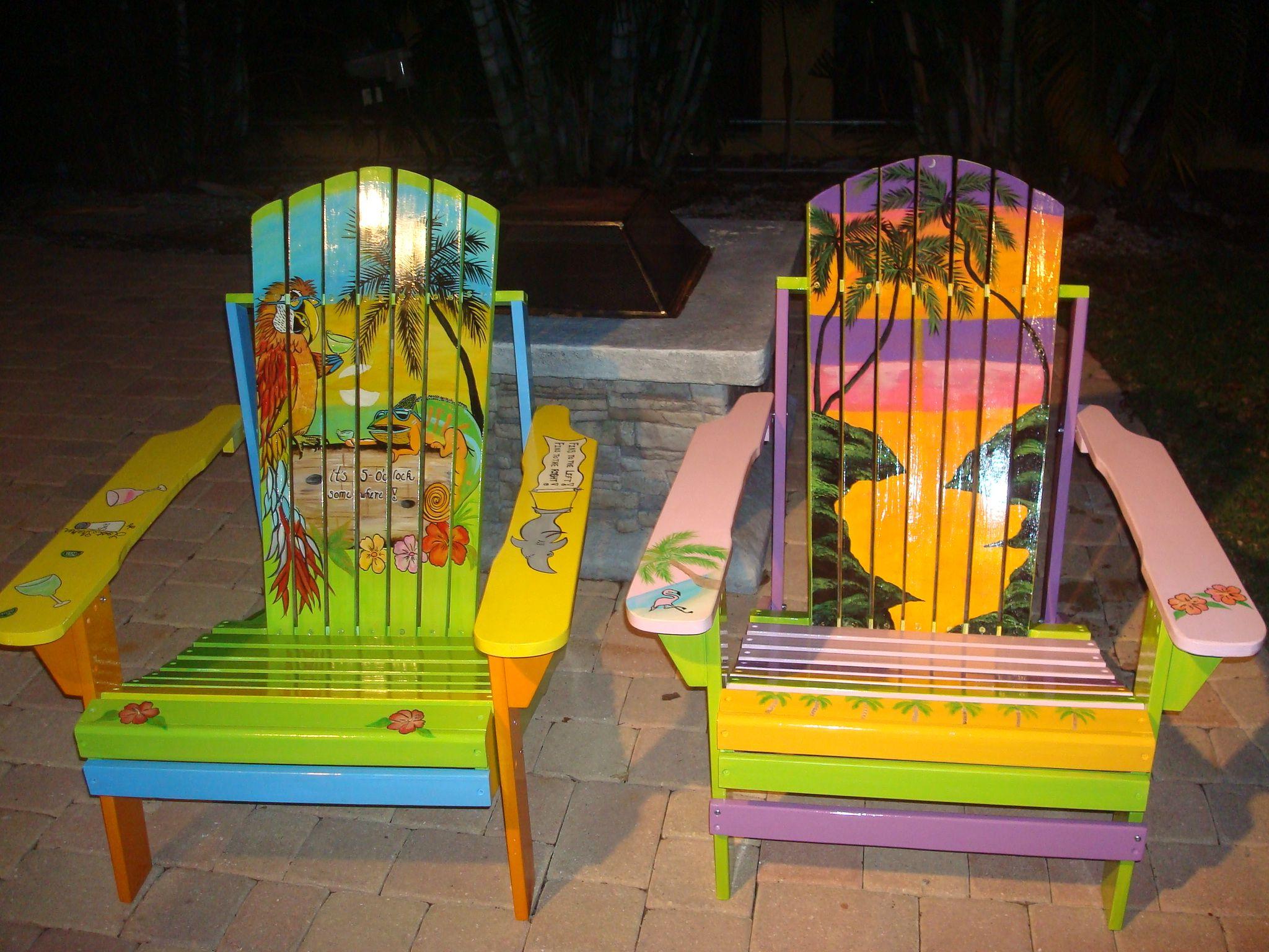 adirondack chairs hand painted