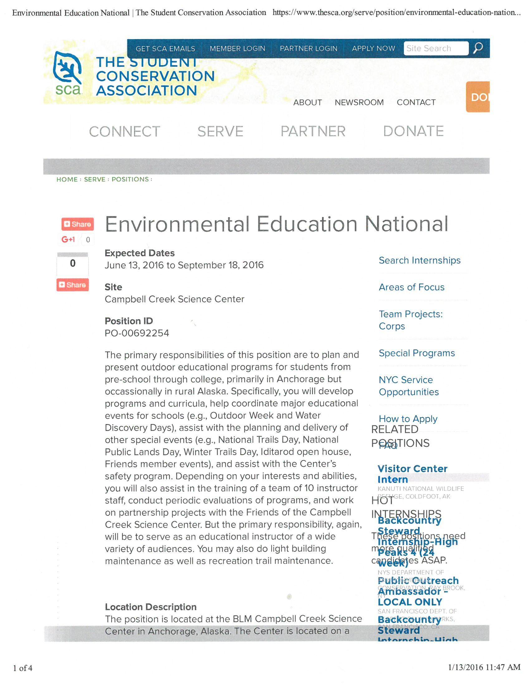 Pin by uaf trio sss on internships environmental