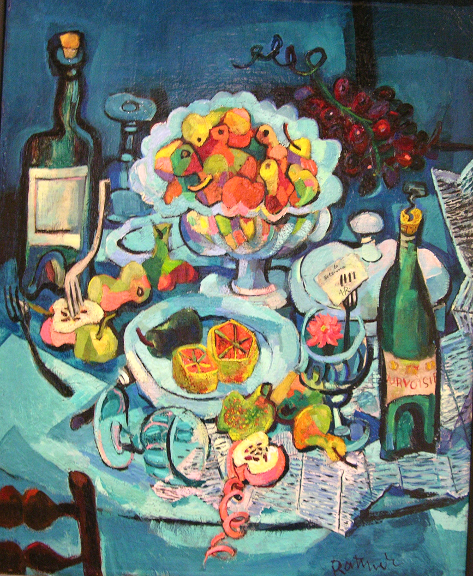 Still Life Composition In Green By Abraham Rattner 1939 With