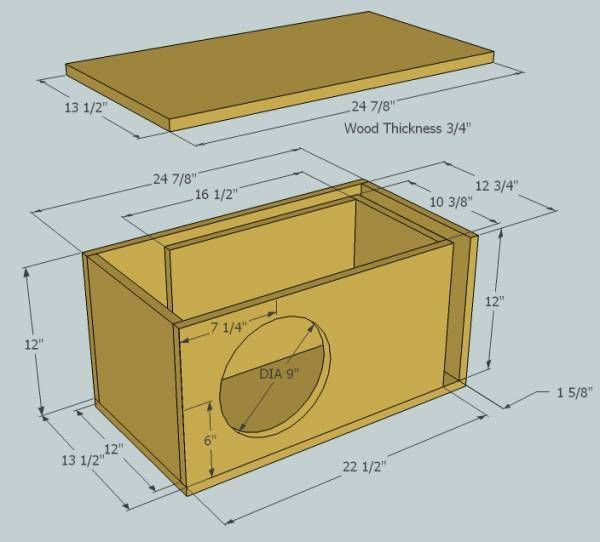 9 15 Inch Subwoofer Box Plans In 2020 Subwoofer Box Design Subwoofer Box Diy Subwoofer Box