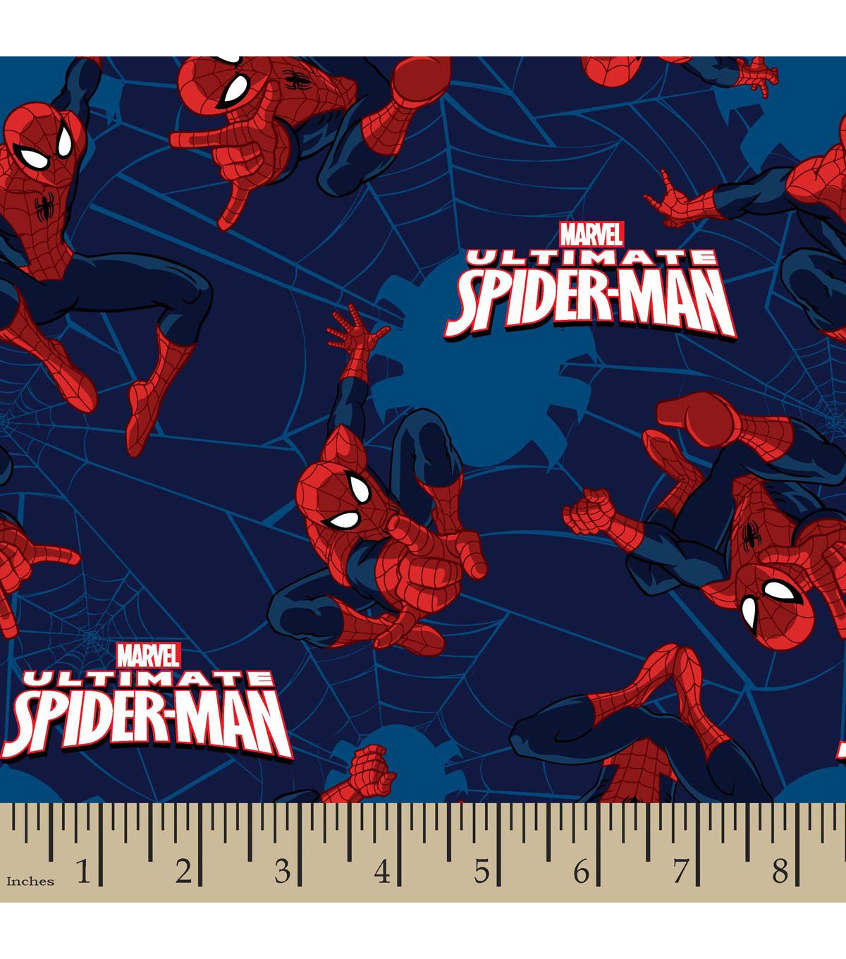 Marvel comics ultimate spiderman toss flannel fabric fabric for